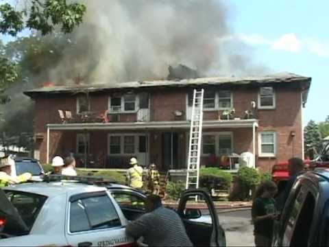 Spring Valley,ny Fire Department Multiple Alarm Fire