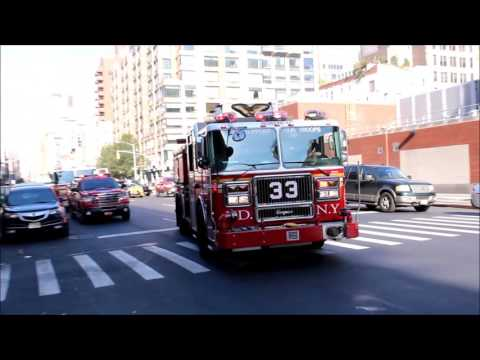 Many FDNY units responding to a 2-ALARM fire on W. 17 St. in Chelsea