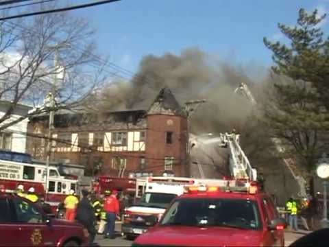 Port Washington,ny Fire Department Multiple Alarm Fire