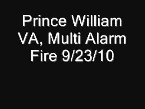 Prince William VA Multi Alarm Fire 9/23/10