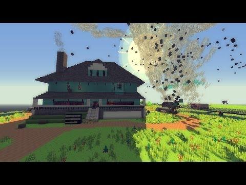 Minecraft: TORNADO MOD VS. REGULAR SHOW MAP! (Weather & Tornadoes Mod!)