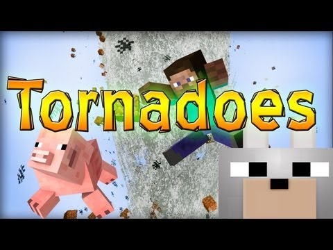 Minecraft Mods – Weather & Tornadoes 1.4.2 Review and Tutorial