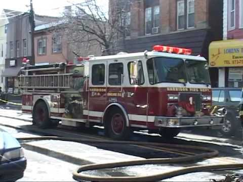 Harrison,nj Fire Department Multiple Alarm Fire