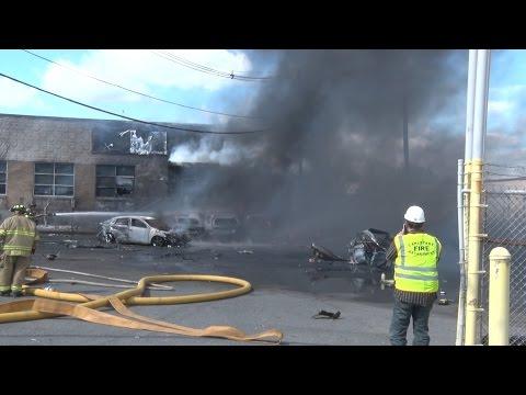 Carlstadt,NJ Fire Department Multiple Alarm Fatal Plane Crash/Fire  5/15/17