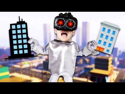 Smashing Cities and Making Tornadoes! – VRobot Gameplay – Giant Robot Simulator HTC Vive
