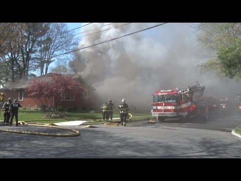 Township of Washington,NJ Fire Department Multiple Alarm Fire  4/21/16