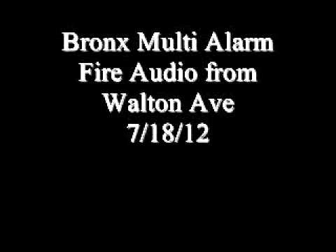 Bronx Multi Alarm Fire Audio 7/18/12