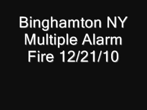Binghamton NY Multi Alarm Fire 12/21/10