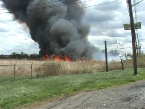 Carlstadt,nj Fire Department Multiple Alarm Brush Fire  Part 1 of 2