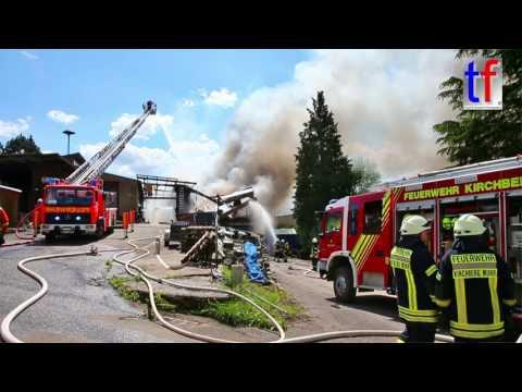 Multiple Alarm Fire / Großbrand Burgstetten-Burgstall, Germany, 21.05.2017.