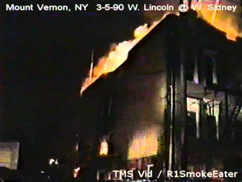 Mount Vernon, NY- Multiple Alarm Fire: 3-5-90