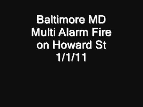 Baltimore MD Multi Alarm Fire 1/1/11