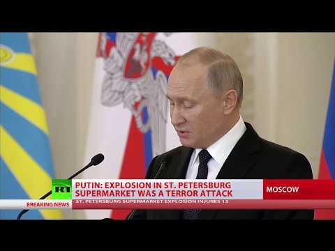Putin: Blast in St. Petersburg store a terrorist attack