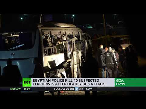 Egypt anti-terror op: Police kill 40 suspected terrorists after deadly bus attack