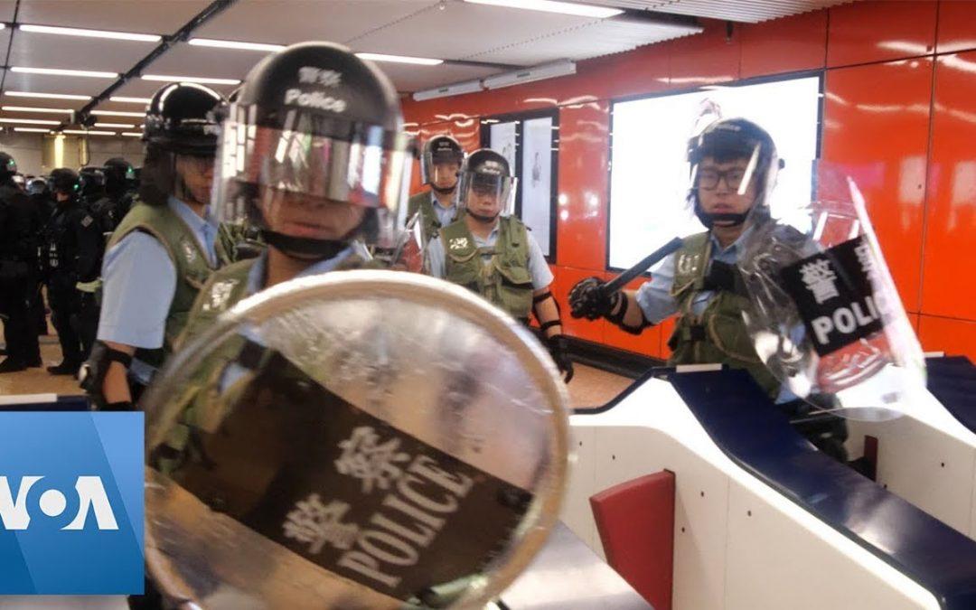 Hong Kong Protests: Police, Protestors Clash at Subway Station