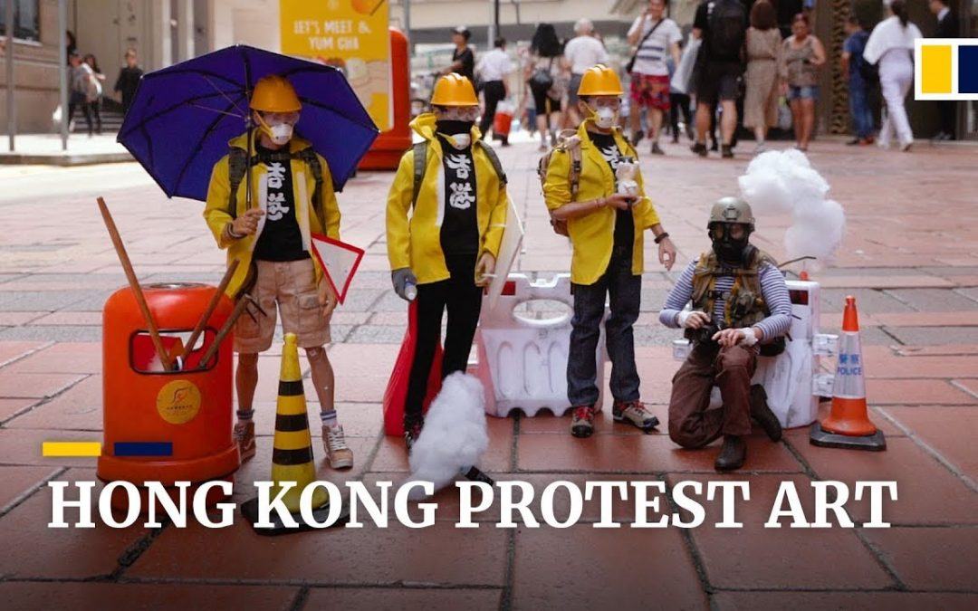 Hong Kong artists turn creativity into support for anti-government protests