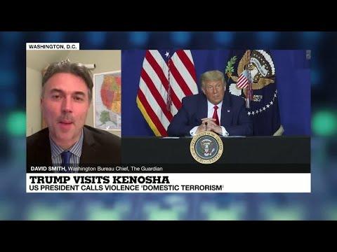 Trump visits Kenosha: US President calls violence 'domestic terrorism'
