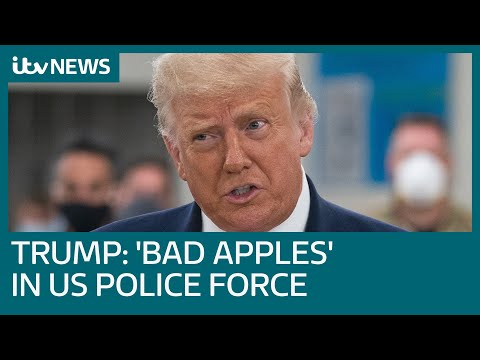US President Donald Trump labels Kenosha violence 'domestic terrorism' | ITV News
