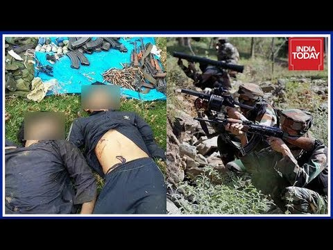 5 Terrorists  Killed In 2 Encounters At Jammu And Kashmir